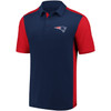 New England Patriots Navy Iconic Clutch Color Blocked Polo