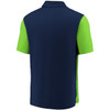 Seattle Seahawks Navy Iconic Clutch Color Blocked Polo