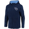 Tennessee Titans Navy Iconic Poly Embossed Defender Fleece Full Zip