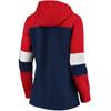 New England Patriots Navy Women's Iconic Cotton Fleece Colorblock Hood