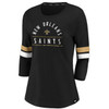 New Orleans Saints Black Women's Iconic Bi T-Shirt