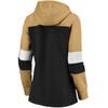 New Orleans Saints Black Women's Iconic Cotton Fleece Colorblock Hood