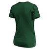 New York Jets Green Women's Iconic Cotton Script State V-Neck