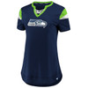 Seattle Seahawks Navy Women's Iconic Team Athena T-Shirt