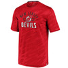 New Jersey Devils Red Iconic Poly Embossed Defender T-Shirt