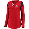 New Jersey Devils Red Iconic Bi-blend Lace Up Long Sleeve