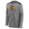 Chicago Blackhawks Gray Authentic Pro Travel Long Sleeve T-Shirt