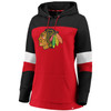 Chicago Blackhawks Red Iconic Cotton Fleece Colorblocked Hood