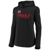 New Jersey Devils Black Women's Authentic Pro Travel Hood
