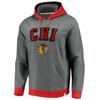Chicago Blackhawks Gray True Classics Signature Fleece Chenille Red Hood