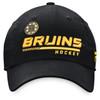 Boston Bruins Black Lcoker Room Slouch Adjustable Cap
