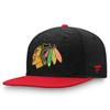 Chicago Blackhawks Black Flat Snapback