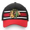 Chicago Blackhawks Black Iconic Alpha Adjustable Cap