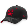 Chicago Blackhawks Black Iconic Dark Stealth Adjustable Cap