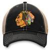 Chicago Blackhawks Black Original Six Meshback Cap
