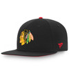 Chicago Blackhawks Black Rinkside Adjustable Strap Cap