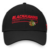 Chicago Blackhawks Black Rinkside Fade Strap Cap