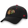 Chicago Blackhawks Black Velcro Adjustable Cap
