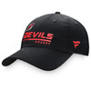 New Jersey Devils Black Lcoker Room Slouch Adjustable Cap