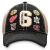 NHL Vintage Marks Black Original Six Refresh Adjustable Meshback