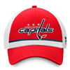 Washington Capitals Red Draft Stripe Snapback Cap