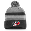 Carolina Hurricanes Gray Second Season Cuffed Pom Beanie