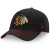 Chicago Blackhawks Black Iconic II Fundamental Adjustable Cap
