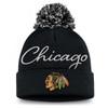 Chicago Blackhawks Black Women's Exclusive Cuffed Pom