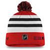 Chicago Blackhawks Red Cuffed Pom Beanie