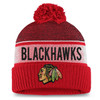 Chicago Blackhawks Red Iconic Cuffed Beanie Pom