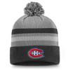 Montreal Canadiens Gray Second Season Cuffed Pom Beanie