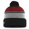 New Jersey Devils Red Iconic Cuffed Beanie Pom