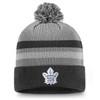 Toronto Maple Leafs Gray Second Season Cuffed Pom Beanie