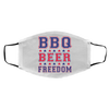 BBQ Beer Freedom Face Mask