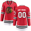 Chicago Blackhawks Women's Home Breakaway Custom Jersey