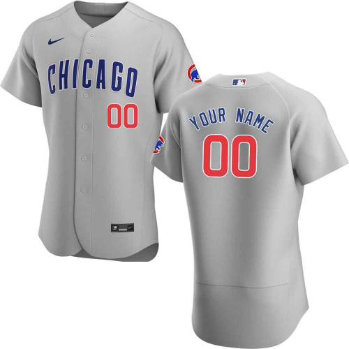 Chicago Cubs Authentic Custom Road Jersey by Nike