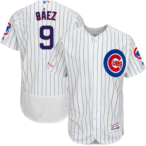 Javier Baez Chicago Cubs Home MLB 150 Year Authentic Jersey by Majestic