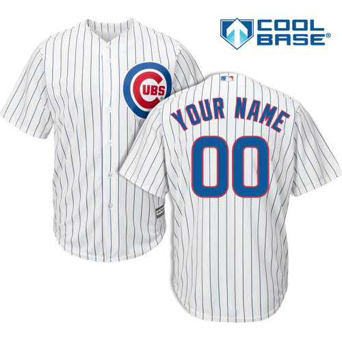 Chicago Cubs Cool Base Personalized Home Jersey by Majestic at SportsWorldChicago