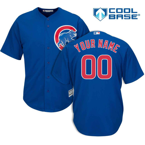 Chicago Cubs Personalized Alternate Jersey by Majestic at SportsWorldChicago