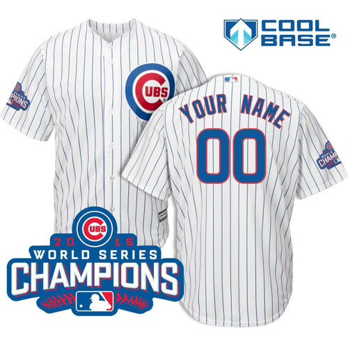 Chicago Cubs Custom 2018 Home Cool Base Jersey by Majestic at SportsWorldChicago