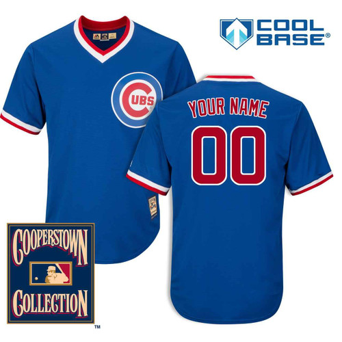 Chicago Cubs Personalized 1994 Cooperstown Cool Base Jersey by Majestic at SportsWorldChicago