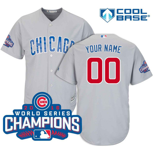 Chicago Cubs Personalized 2018 Road Cool Base Jersey by Majestic at SportsWorldChicago