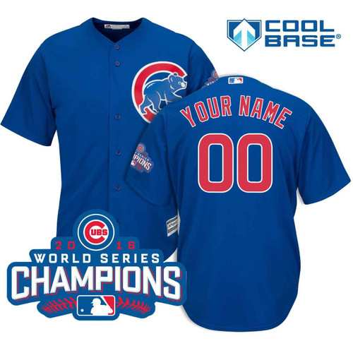 Chicago Cubs Personalized 2018 Alternate Jersey by Majestic at SportsWorldChicago