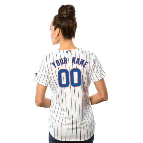 Chicago Cubs Womens Personalized Home Jersey by Majestic at SportsWorldChicago