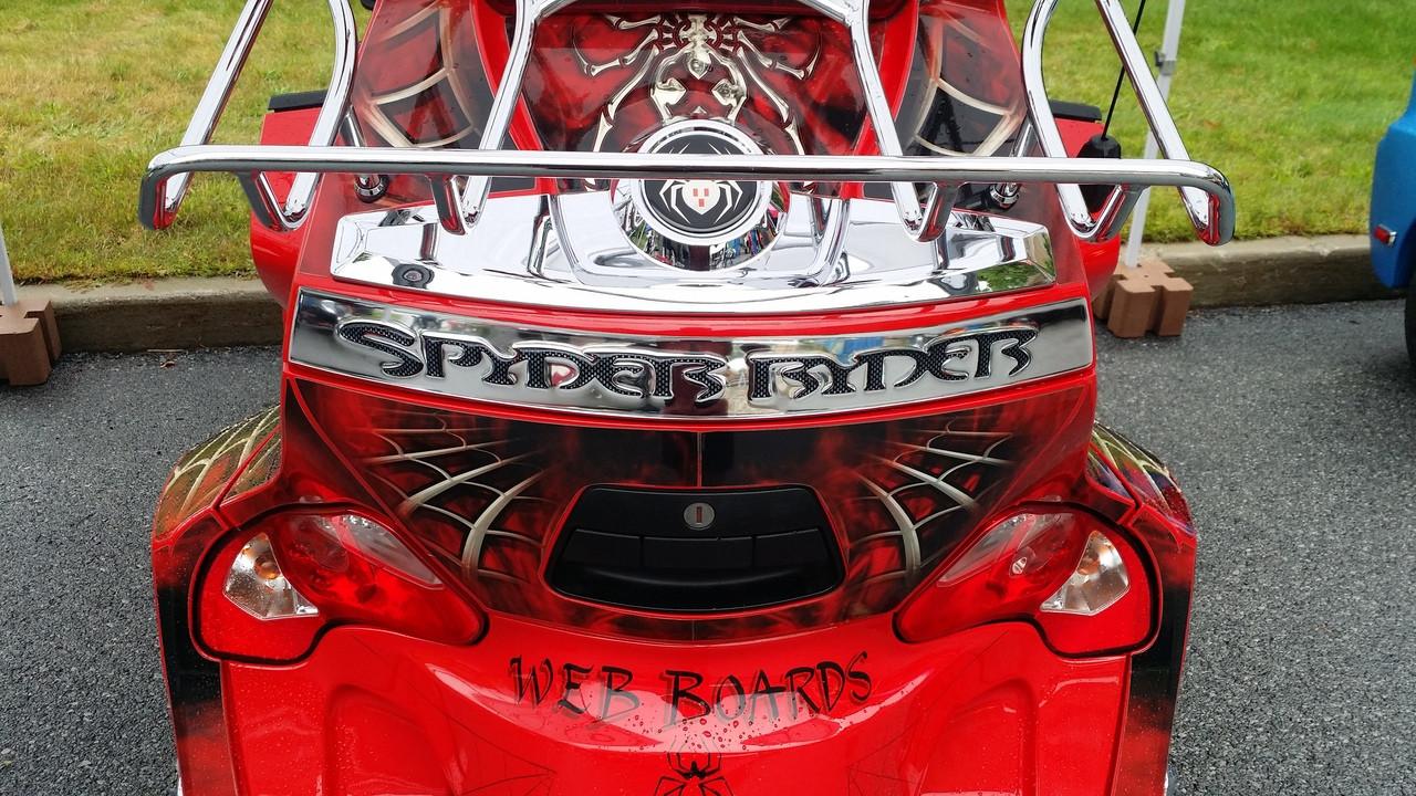 "RT Chromed Rear Trunk ""Spyder Ryder"" Trims #301 - Polyurethane - 2010-2019"
