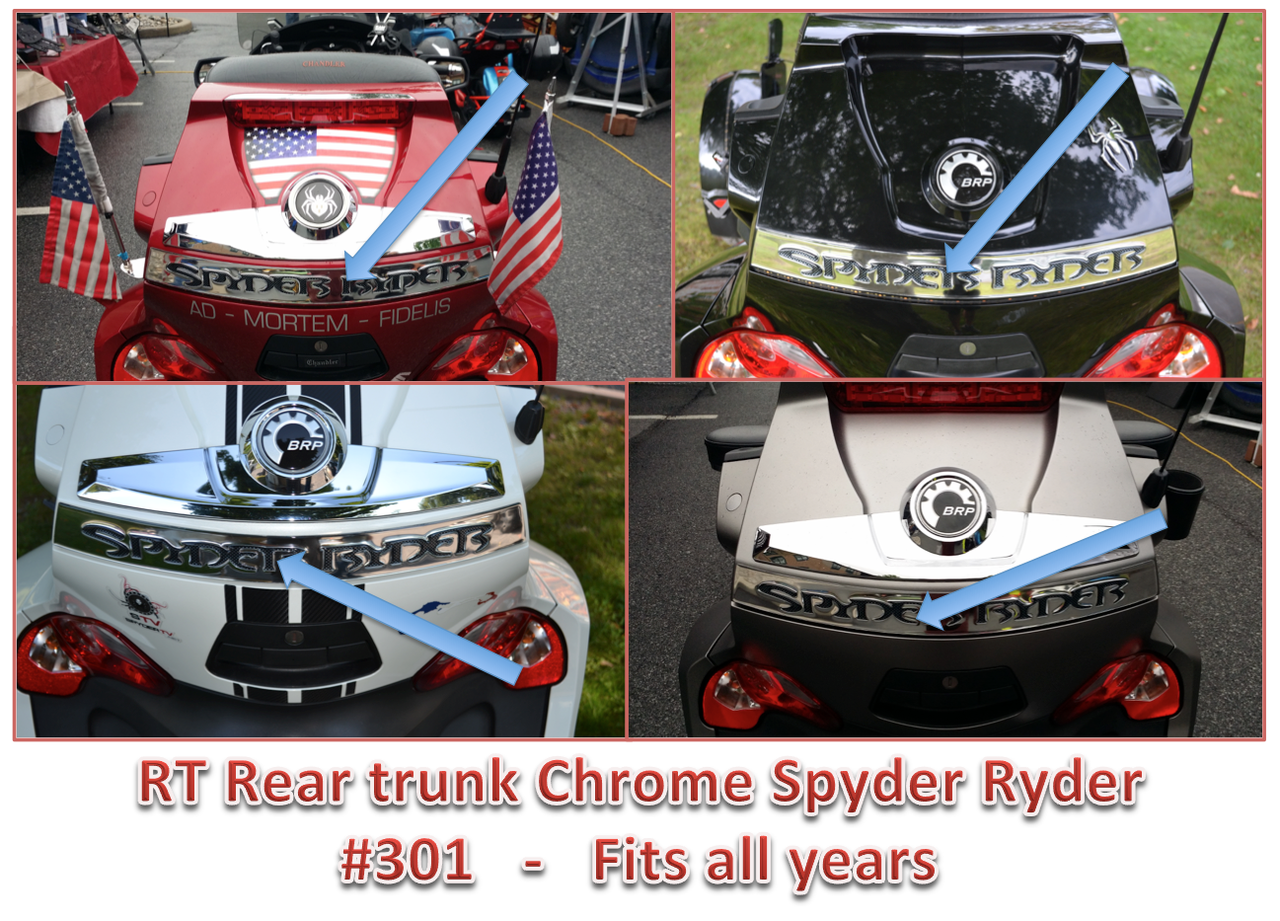 RT Rear Trunk Chrome Spyder Ryder #301 - Domed Urethane - Fits All years