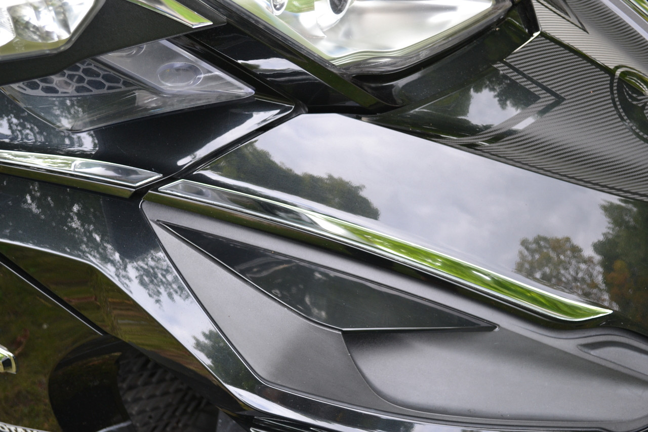 RT Chromed Front trunk outer trims #102  - Domed Acrylic Urethane (4 Pcs) All Years