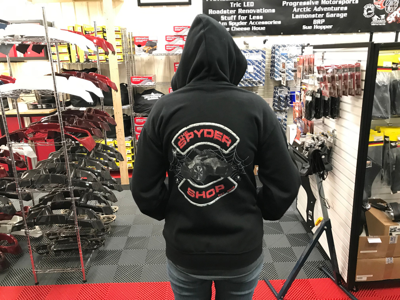 """""""The Spyder Shop"""" Zip Hoody - Black"""
