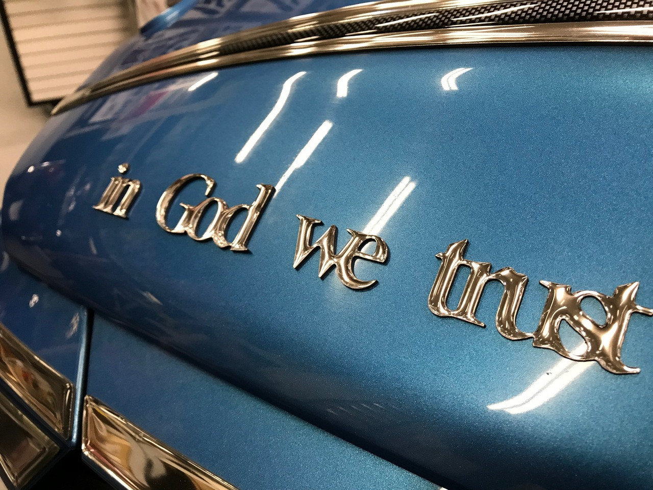 "Chromed ""In God We Trust"" Urethane letters"