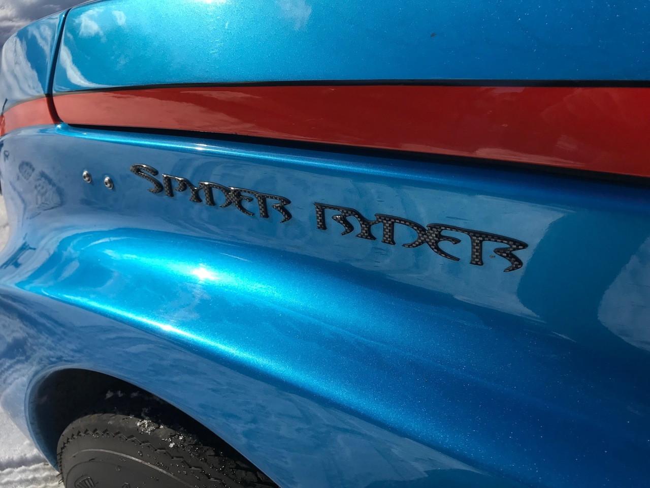 """Carbon Fibre """"Spyder Ryder"""" Urethane LARGE letters"""